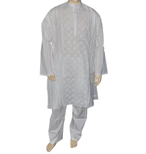 100 Percent Cotton Kurta Pajama Dress for Men Chest Size : 127 cms
