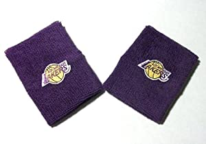Los Angeles Lakers Purple Team Logo Wristbands - For Bare Feet by For Bare Feet
