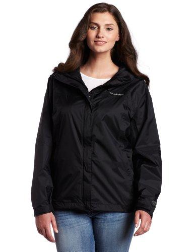 Columbia Women&39s Plus Arcadia Rain Jacket Black 2X   Raincoats