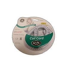 JASCO 12' WHITE Handset Cord JAS-TL86175