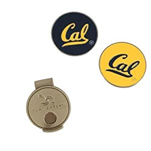 NCAA California Golden Bears Hat Clip and 2 Golf Ball Markers