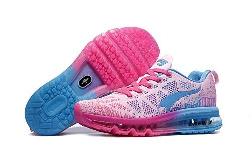 Femminili scarpe scarpe sportive attenuano in esecuzione scarpe scarpe estive donne scarpe casual leggera imbottitura traspirante (rosa, 40)