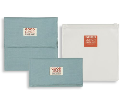 Good Lunch Snack Sack Blissful Blue, Set of 3 - 1