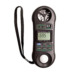 Sper Scientific Handheld Environmental Quality Meter, 0 to 50 Degree C Ambient Range, +/- 1.2 Degree C Accuracy