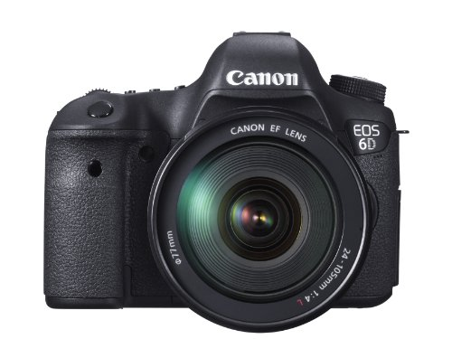 Canon EOS 6D Digital-SLR Kamera (20,2 Megapixel CMOS-Sensor, Live View, Full HD, WiFi, GPS, DIGIC 5+) mit EF 24-105mm 1:4 L IS USM Objektiv Kit