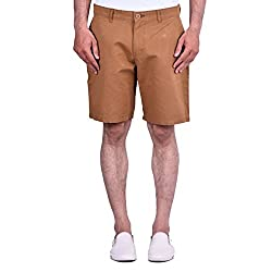 CORTOS Brown 100% Cotton Plain Regular fit casual Solid Short (Size: 30inch)