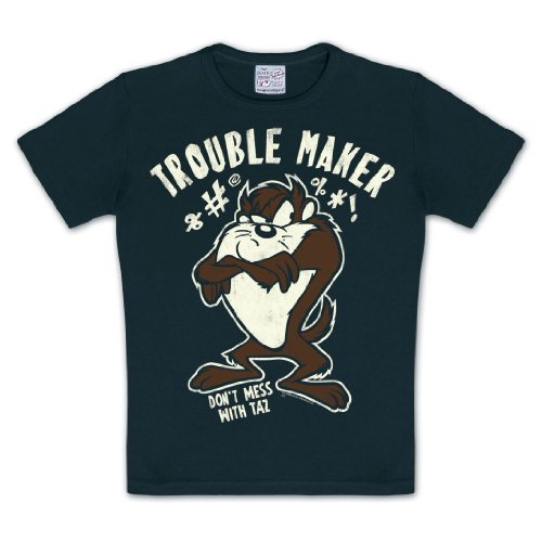 Looney Tunes T-Shirt - Stampa a colori - Maglia di Taz Il Diavolo della Tasmania - Girocollo - 104/116