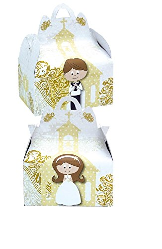 Verbetena 011900039 - Cajita comunión gold, Bolsa 24 unidades