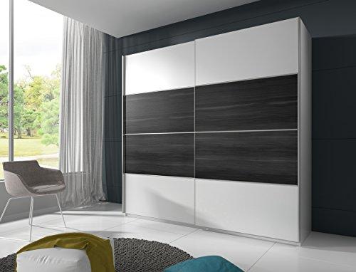 Schwebetrenschrank-BETA-Schiebetrenschrank-Kleiderschrank-Schlafzimmerschrank-200-cm-wei-schwarz-nubaum