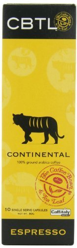 CBTL Continental Espresso Capsules By The Coffee Bean & Tea Leaf, 10-Count Box by Coffee Bean & Tea Leaf (Cbtl Continental Espresso compare prices)