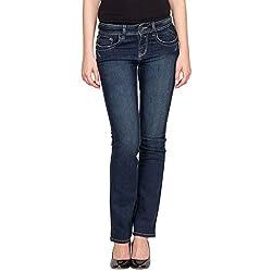 Species Women's Slim Fit Jeans (S-257_Blue_Medium)