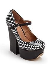 Shellys London Kocek Womens Size 8 Black Platforms Heels Shoes
