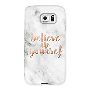 Belive in Yourself Printed Back Case Cover for Samsung Galaxy S6