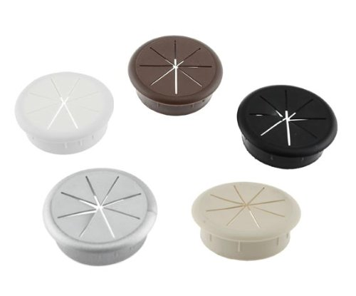 Low Voltage Grommet : Quot round flexible desk grommet plastic pack white