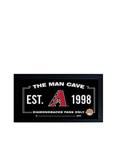 Steiner Sports Arizona Diamondbacks Man Cave Sign With Authentic Game-Used Dirt, Black, 10 x 20
