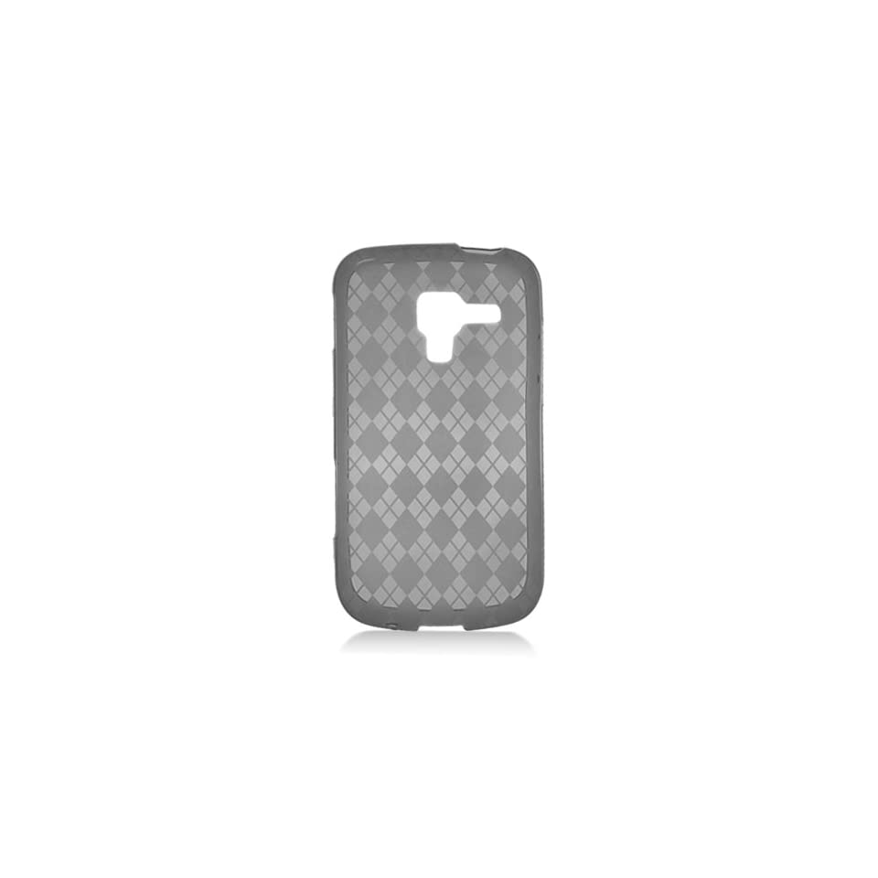 Black Clear Clear Hexagon Flex Cover Case for Samsung Galaxy Exhilarate SGH I577 Cell Phones & Accessories