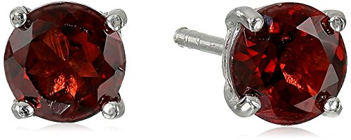 sterling-silver-round-garnet-earrings