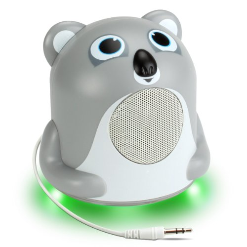 Gogroove Koala High Powered Glowing Speaker Groove Pal Jr. With Cute Design And Led Base - Works With Apple Iphone 5S , Samsung Galaxy S5 , Lg G3 , Htc One M8 , Motorola E , One Plus One & More Smartphones!