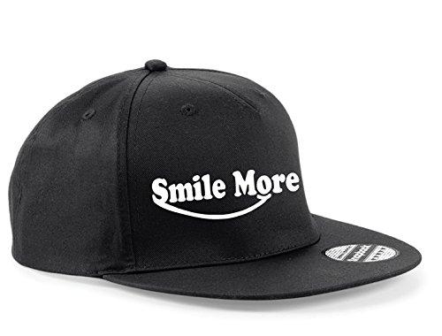 smile-more-cap-roman-atwood-snapback-baseball-hat-youtube-viral-cool-tdm-vg-xx-black-black-peak