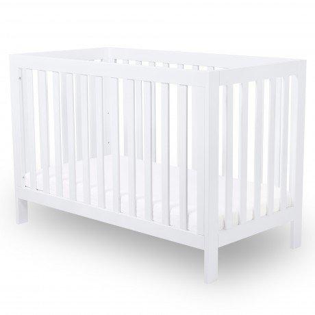 Alfred & Compagnie - Lit bébé évolutif 60x120 hêtre massif blanc