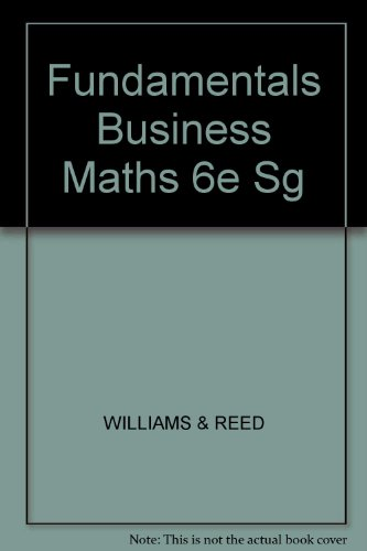 Fundamentals Business Maths 6e Sg