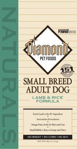 Diamond Naturals Dry Food for Adult Dogs, Small Breed Lamb and Rice Formula, 6 Pound Bag