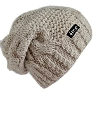 Frost Hats M-80ND BEIGE Winter Hat for Women Slouchy Beanie Hat Knitted Winter Hat Frost Hats
