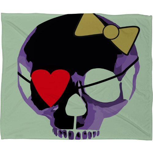 Skull Throw Blanket back-1078059