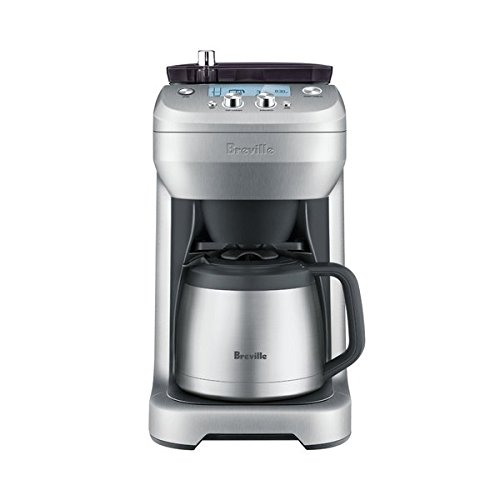 Breville Stainless Steel Programmable Grind Control Coffee Maker with Removable Storage Hopper and Digital Clock Display, Silver (Breville You Brew Coffee Maker compare prices)