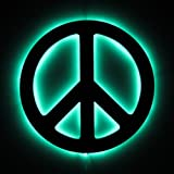 Peace Sign Wall Art With Music Controlled Light