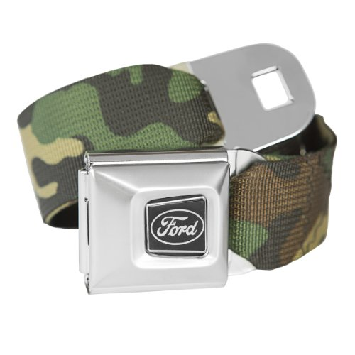 Camouflage Ford Seatbelt Buckle Fashion Belt - Officially Licensed