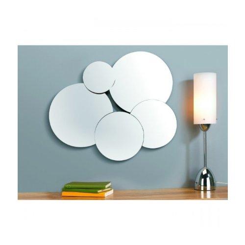 Miroir design bubbles nuages couleur argent mati re for Miroir fantaisie design