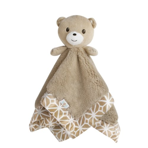Cocalo Mix & Match Fur/Matte Satin Security Blanket, Bear/Taupe front-3381