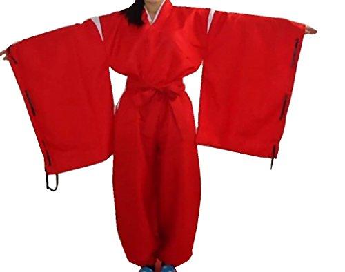 [CNS Inuyasha Style Kimono Cosplay Costume [ M Size for Women ] Japanese Anime] (Miroku Cosplay Costume)
