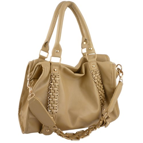 MG Collection EIDER Gold Chain Decor Office Hobo Shoulder Bag / Handbag