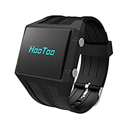 HooToo Smart Heart Rate Monitor Watch with Bluetooth (Pedometer, Burned Calories Tracker, Sleep Monitor, Call Sedentary Reminder, Compatible With iPhone Samsung Moto LG Nexus HTC Devices)