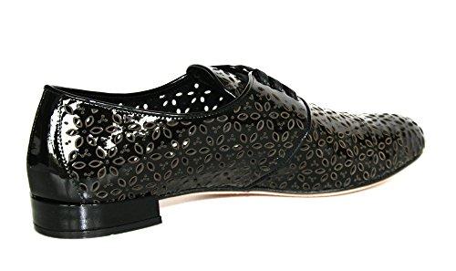 pictures of Prada Women's 1E054D Black Leather Lace-up Shoes EU 41 / US 11