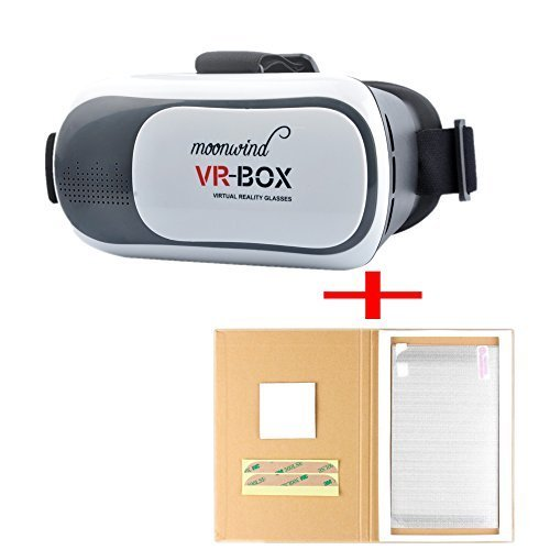 Moonwind 2nd 3D VR Goggles Box II 2.0 Version Virtual Reality Headset Glasses Google Cardboard Movie Games with Screen Protector for 4.7-6 inch Android IOS Smartphone iPhone 6 6 plus Samsung Galaxy LG