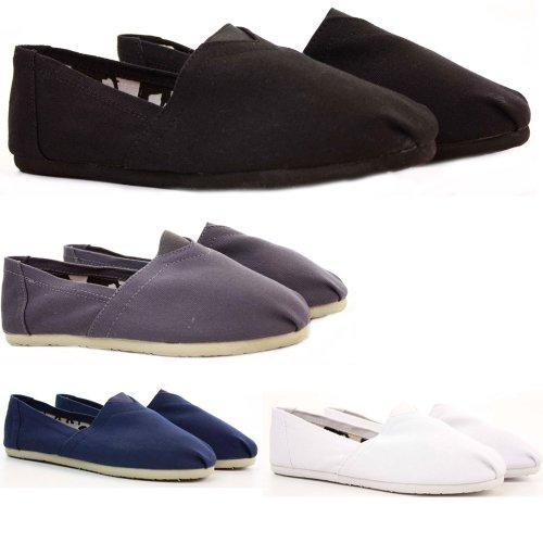 Womens Espadrilles Pumps CanvasTrainer Style Deck Plimsolls Slip on Shoes Size 3 - 8