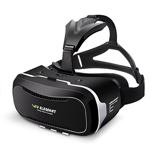 Virtual Reality Headset, ELEGIANT 3D VR Glasses Virtual Reality Box for 3D Movies Video Games, for iPhone 7 Plus 6 Plus 6s Samsung S7 S6 Edge S5 Note 5 and Other Smartphone - 2nd Generation VR Headset