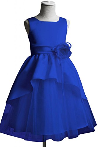 Victoria Dress Flower Girl Pageant Dresses Communion Party Dresses-6-Royal Blue back-909857