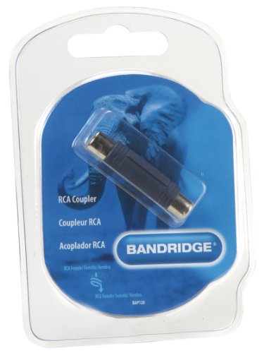 BANDRIDGE BAP 120 (0,00m/Adapter) Cinch-Kupplung auf Cinch-Kupplung als Adapter