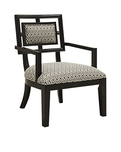 Coast to Coast Accent Chair, Black/White