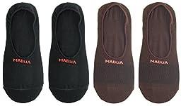 Mabua Mens Active NON Slip No Show Socks, 4 Pack