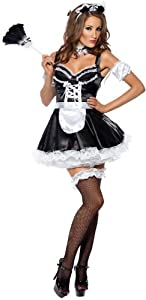 Smiffy's Women's Fever Flirty French Maid Costume