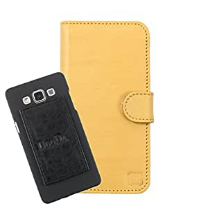 DooDa Genuine Leather Wallet Flip Case Cover With Card & ID Slots For Karbonn Titanium High 2 S203 - Back Cover Not Included Peel And Paste