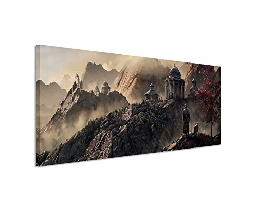 print-aegon-fantasy-art-150-x-50-cm-panorama-ausfuhrung-high-quality-art-print-on-real-canvas-as-a-w