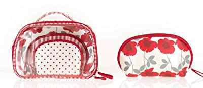 Best Cheap Deal for Accessories By Upper Canada 4 Piece Cosmetics Bags Travel Set, Red and White by Accessories by Upper Canada - Free 2 Day Shipping Available