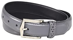 Stacy Adams Men's 30mm Pinseal Leather Belt with Pinhold Design, Gray, 40