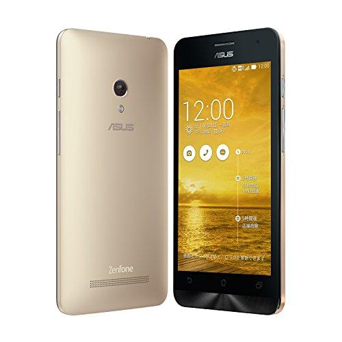 【国内正規品】ASUSTek ZenFone5 ( SIMフリー / Android4.4.2 / 5型ワイド / microSIM / 32GB / LTE / ゴールド ) A500KL-GD32